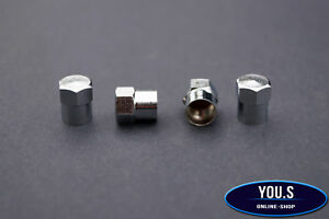 4-x-Silber-Alu-Ventilkappen-fuer-Autos-PKW-LKW-NEU