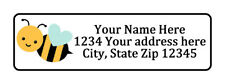 Bee With Heart Personalized Return Address Labels 12 In By 1 34 In