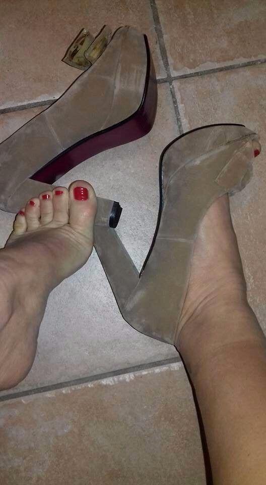 Scarpe donna Decolletè molto usate USATISSIME tacco Altissimo Plateau