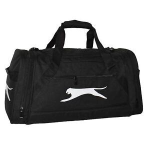 Image is loading Slazenger-Extra-Large-Sports-Holdall-Black-Gym-Kit- 902302478adc1