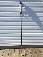 Walking Hiking Sticks Anti-shock 49black With Our Patent Golf Grip/light Weight