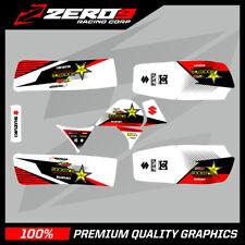 suzuki lt50 quad graphics stickers decals name /& number mx laminate white pink