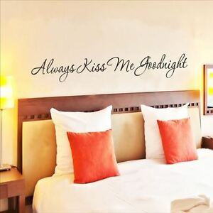 Huhome Pvc Wall Stickers Wallpaper English Kiss Me Goodnight Kiss