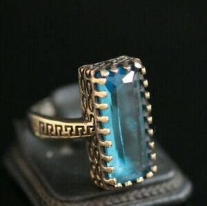 Turkish-Handmade-Jewelry-Sterling-Silver-925-Aquamarine-Ring-6-9