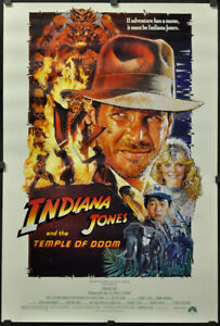 Indiana-Jones-And-The-Temple-von-Doom-1984-Orig-Film-Poster-27X40-Struzan-Stil