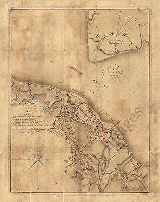 Map of environs of York Virginia c1781 26x14