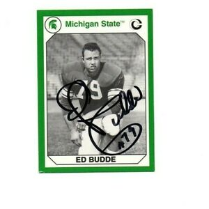 Ed Budde Michigan State MSU Spartans football signed card Kansas City Chiefs c