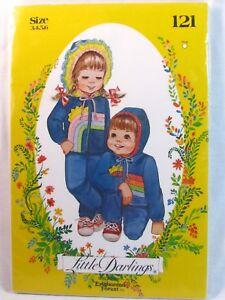 Little-Darlings-Sewing-Pattern-121-Boy-Girl-Hooded-Jacket-Pants-Sizes-3-4-5-6
