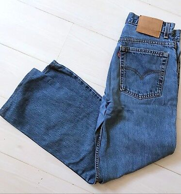 Vintage Levi's 505 Straight Leg Regular Fit Stonewash Jeans W31l28 Strauss-mostra Il Titolo Originale
