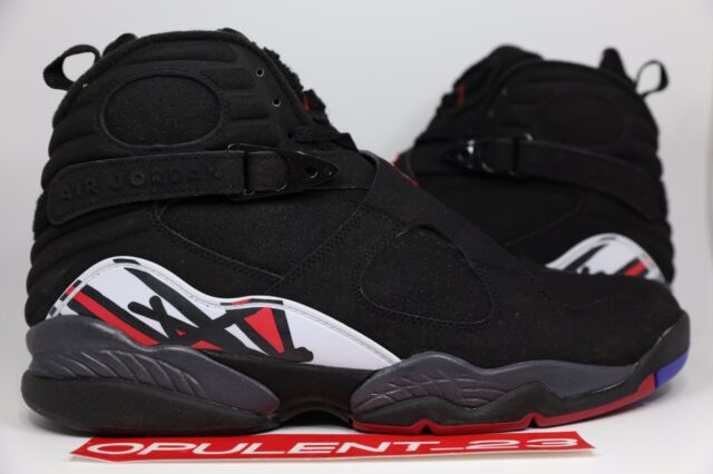 f27b0a8cf98abc DS NIKE AIR JORDAN 8 VIII RETRO PLAYOFF 2009 BLACK OG 305381 061 RED SIZE 12