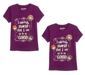 Harry-Potter-Youth-Chibi-034-Up-to-No-Good-034-Purple-Shirt-Size-XS-4-5-LOT-OF-2