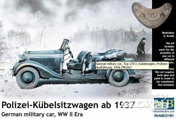 WWII Polizei-Kübelsitzwagen ab 1937, Master Box Box Box Figuren 1 35, Art.Nr. MB35101  | Elegant Und Würdevoll  e128dc
