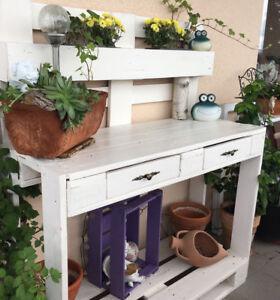 Pflanztisch Tisch Garten Deko Europalettenmobel Europalette