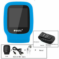 RUIZU X09 4GB Sport Mini Screen Clip USB MP3 Media Player Micro SD TF Card Blue