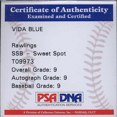 Autographed Baseball - Vida Blue