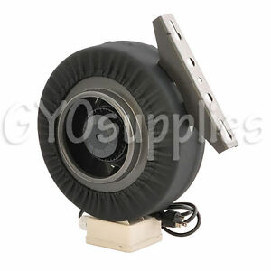 6 Duct Blower Centrifugal Inline Exhaust Fan for Grow Room Carbon