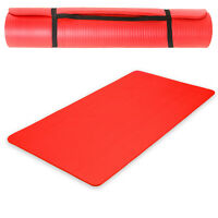 Tapis De Yoga Sol Fitness Gymnastique Sport Natte Musculation Rouge 180x60x1,5cm