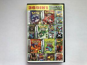 369 games in 1 Nintendo Game Boy Advance GBA DS Lite Mario, Pokemon