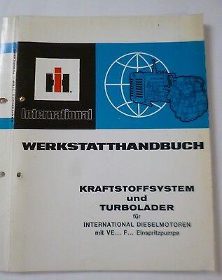 D 246 . IHC Werkstatthandbuch für Traktor Dieselmotor D246
