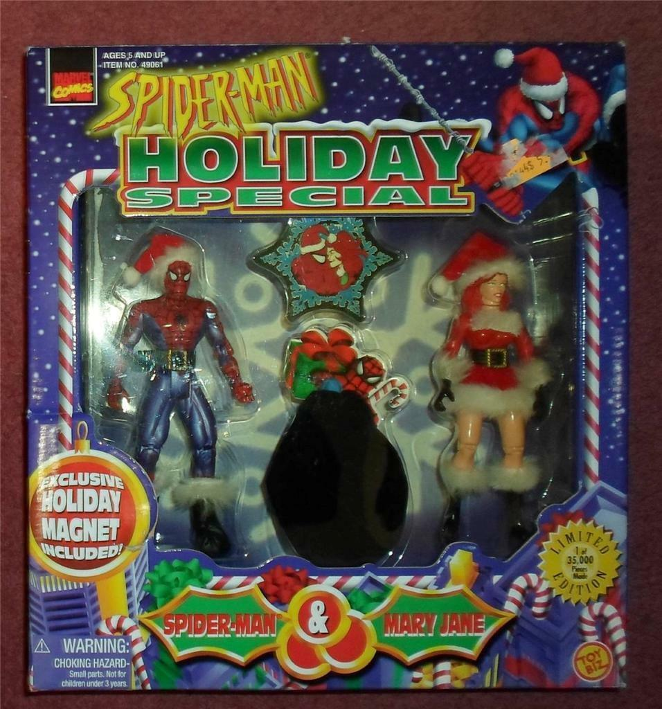 Marvel Comics Holiday Christmas Mary Jane Exclusive Spiderman Amazing figure set