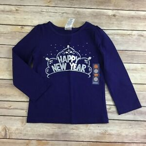 NWT-girls-GYMBOREE-sz-2T-Happy-New-Year-Navy-Tee-Shirt-Top-MOD-ABOUT-ORANGE