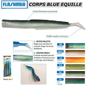 FLASHMER-3-CORPS-BLUE-EQUILLE-Le-lancon-mode-texan-TRES-EFFICACE-New