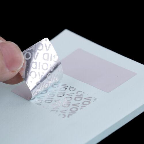 100PcBlank Sicherheitssiegel manipulationssichereGarantie AufkleberMatt SilberPD