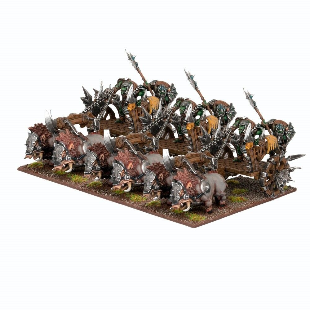 3x Orc Gore Chariots - Kings of War Orcs (Ork)