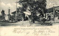 AK 1900 -DORNBIRN- Gewerbeausstellung mit Springbrunnen + Maschinenhalle -SUPER!