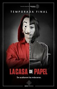 Details about Poster A3 Series House Paper Tokyo / Money Heist Poster 01
