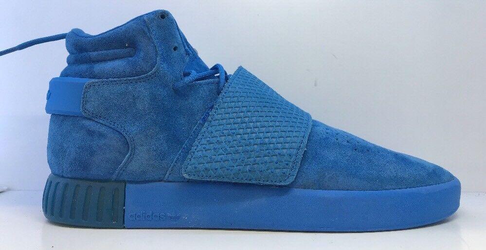 Adidas Original Mens Blau Tubular Invader Trainers Uk 9.5