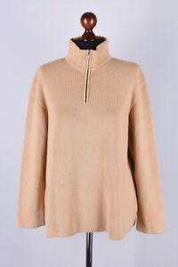 Bogner-Zip-Neck-Wool-Classic-Jumper-Size-L-EU-44