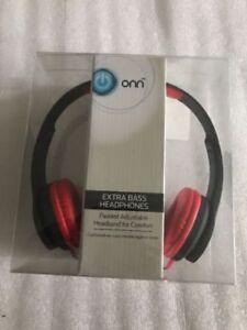 b60ba1c5a54 Onn ONA14AA004 Over-ear Extra Bass Headphones - Red Black for sale ...