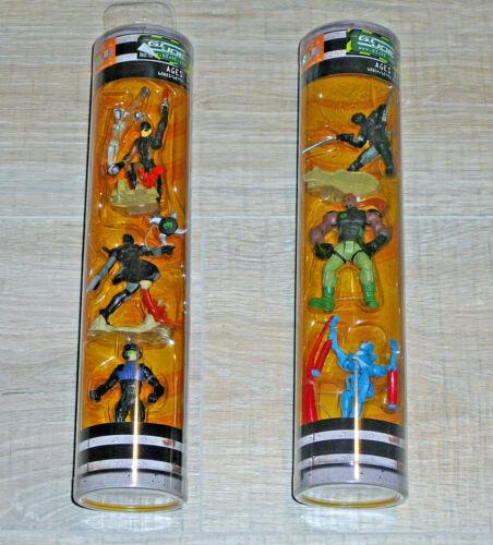 """Nouveau Lot de 2 G.I Joe 2.5/"""" SIGMA 6 HASBRO 3 Action Figures Tube 2006"""