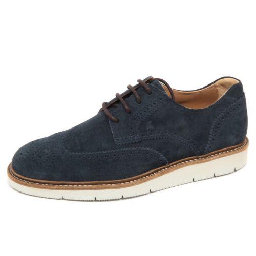 E2810 scarpa uomo blu HOGAN H322 DERBY BUCATURE scarpa suede shoe man