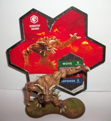 Heroscape Game Figure Dumutef Guard Set/Lot Complete w Card