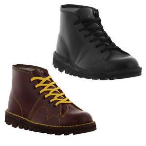 Grafters-Original-60s-Mono-Botas-Zapatos-para-hombre-para-mujer-Negro-Rojo