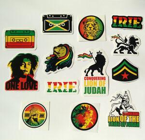 Lion Judah Sticker Vinyl Decal Rasta Jah Jamaica Car Bike Bob Marley Star David