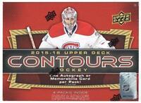 2015/16 Upper Deck Contours Hockey Hobby Box - 4 Hits Per Box - Mcdavid Rcs on sale