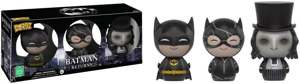 Funko Batman Retuens 3-Verpackung Batman Catwoman Penguin Exclusive Dorbz