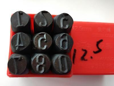 9pcs Steel Number Die Stamp 1.5mm Metal Punch Set 0 1 2 3 4 5 6 7 8 9