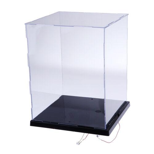 Scatola trasparente per vetrine con custodia trasparente con luci a LED per
