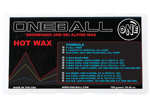 dace98740c1a Image is loading 750g-One-Ball-Jay-4WD-Wax-Cold-Snowboard-