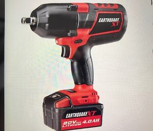 1 2 Cordless Impact >> Details About Earthquake 20v Max Lithium 1 2 Cordless Impact Wrench Kit Eq12xt20v