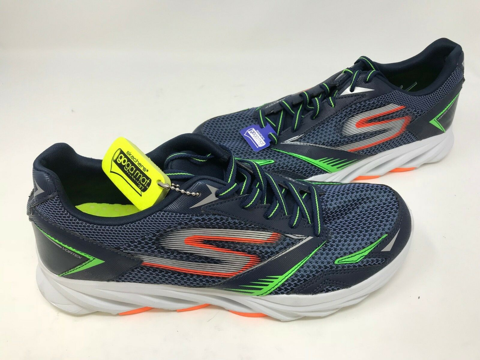 NEW! Skechers Men's GORUN VORTEX Shoes Navy/Orange T z Wild casual shoes
