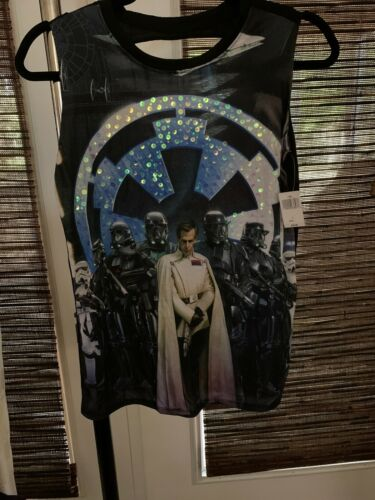New Disney Star Wars Rogue One Krennic Death Troopers Stretch Tank Top Size SM