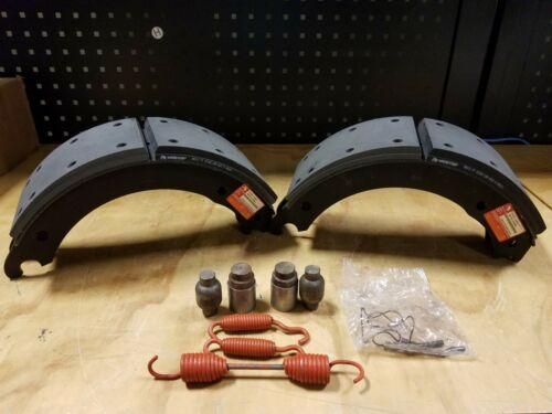 "Genuine Meritor 6-1//2/"" x 5/"" Relined Brake Shoe Kit w// Hardware XK3124524Q"