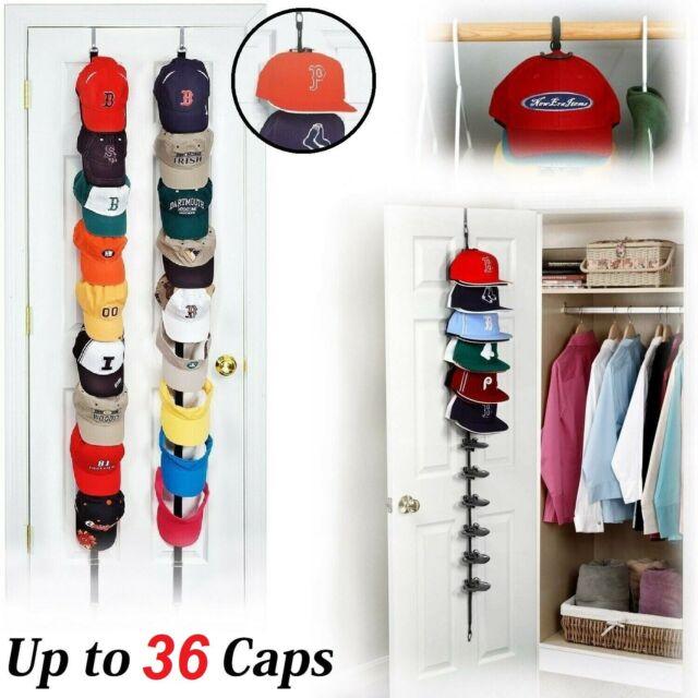 36 Baseball Cap Rack Organizer Hat Storage Holder Door Closet