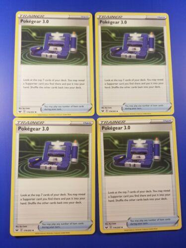 Pokegear 3.0 174//202 x4 Sword /& Shield Base UNCOMMON PLAYSET Pokemon NEAR MINT