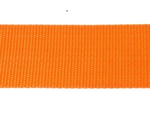 25m lang Bänder 20mm breit ORANGE Dicke 1,35mm Gurtband